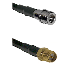 QMA Male on LMR240 Ultra Flex to SMA Reverse Polarity Female Cable Assembly