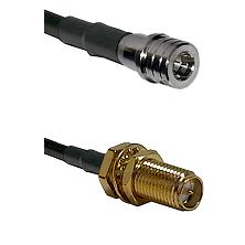 QMA Male on LMR240 Ultra Flex to SMA Reverse Polarity Female Bulkhead Cable Assembly