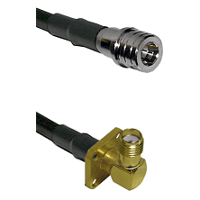 QMA Male on LMR240 Ultra Flex to SMA 4 Hole Right Angle Female Cable Assembly