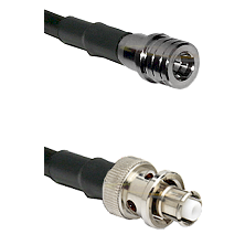QMA Male Connector On LMR-240UF UltraFlex To SHV Plug Connector Cable Assembly