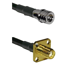 QMA Male Connector On LMR-240UF UltraFlex To SMA 4 Hole Female Connector Cable Assembly