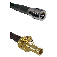 QMA Male on RG142 to 10/23 Female Bulkhead Cable Assembly