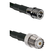 QMA Male on RG142 to Mini-UHF Female Cable Assembly