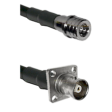 QMA Male on RG400 to C 4 Hole Female Cable Assembly