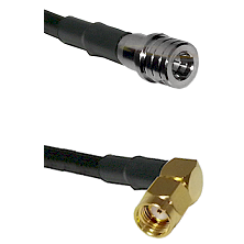 QMA Male on RG400 to SMA Reverse Polarity Right Angle Male Cable Assembly