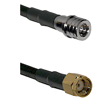 QMA Male on RG400 to SMA Reverse Polarity Male Cable Assembly