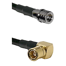 QMA Male on RG400 to SMB Right Angle Female Cable Assembly
