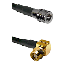 QMA Male on RG400 to SMC Right Angle Female Cable Assembly