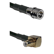 QMA Male on RG400 to SMC Right Angle Male Cable Assembly
