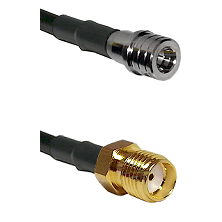 QMA Male on RG400 to SMA Reverse Thread Female Cable Assembly