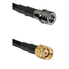 QMA Male on RG400 to SMA Reverse Thread Male Cable Assembly