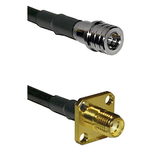 QMA Male on RG400 to SMA 4 Hole Female Cable Assembly