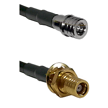 QMA Male on RG400 to SMB Female Bulkhead Cable Assembly