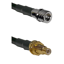QMA Male on RG400 to SMC Male Bulkhead Cable Assembly