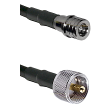QMA Male on RG400u to UHF Male Cable Assembly