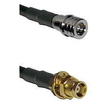 QMA Male on RG58C/U to MCX Female Bulkhead Cable Assembly