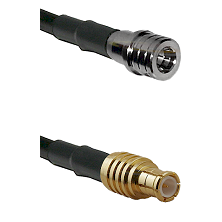 QMA Male on RG58C/U to MCX Male Cable Assembly