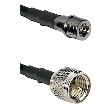 QMA Male on RG58C/U to Mini-UHF Male Cable Assembly