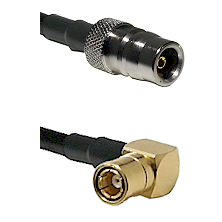 QN Female on LMR-195-UF UltraFlex to SMB Right Angle Female Cable Assembly