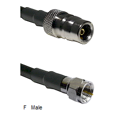 QN Female Connector On LMR-240UF UltraFlex To F Male Connector Cable Assembly