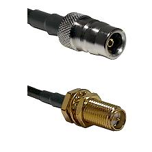 QN Female Connector On LMR-240UF UltraFlex To SMA Reverse Polarity Female Bulkhead Connector Coaxial