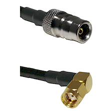 QN Female Connector On LMR-240UF UltraFlex To SMA Reverse Polarity Right Angle Male Connector Coaxia