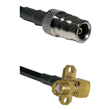 QN Female Connector On LMR-240UF UltraFlex To SMA 2 Hole Right Angle Female Connector Coaxial Cable