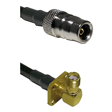 QN Female Connector On LMR-240UF UltraFlex To SMA 4 Hole Right Angle Female Connector Coaxial Cable