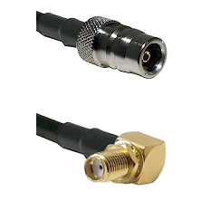 QN Female Connector On LMR-240UF UltraFlex To SMA Reverse Thread Right Angle Female Bulkhead Connect