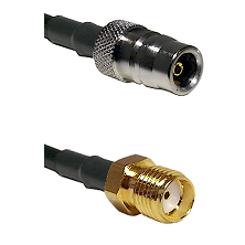 QN Female Connector On LMR-240UF UltraFlex To SMA Female Connector Cable Assembly
