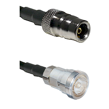 QN Female on RG142 to 7/16 Din Female Cable Assembly