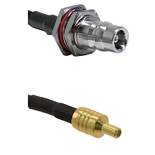 QN Female Bulkhead on LMR100 to SSLB Male Cable Assembly