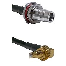 QN Female Bulkhead on LMR100 to SSLB Male Bulkhead Cable Assembly