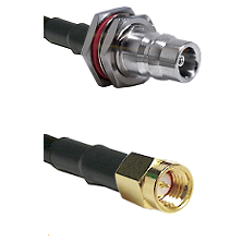 QN Female Bulkhead on LMR100 to SSMA Male Cable Assembly