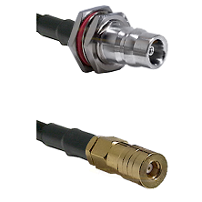 QN Female Bulkhead on LMR100 to SSMB Female Cable Assembly