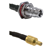 QN Female Bulkhead on LMR100 to SSMB Male Cable Assembly