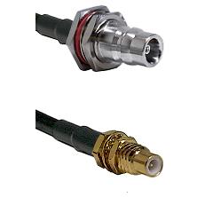 QN Female Bulkhead on LMR100 to SSMC Male Bulkhead Cable Assembly
