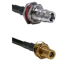 QN Female Bulkhead on LMR-195-UF UltraFlex to SLB Female Bulkhead Cable Assembly