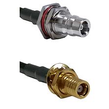 QN Female Bulkhead on LMR-195-UF UltraFlex to SMB Female Bulkhead Cable Assembly