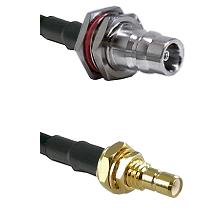 QN Female Bulkhead on LMR-195-UF UltraFlex to SMB Male Bulkhead Cable Assembly