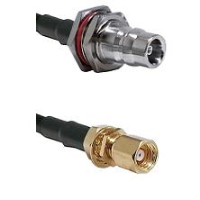 QN Female Bulkhead on LMR-195-UF UltraFlex to SMC Female Bulkhead Cable Assembly