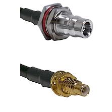 QN Female Bulkhead on LMR-195-UF UltraFlex to SMC Male Bulkhead Cable Assembly