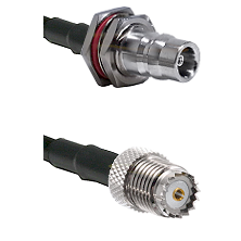 QN Female Bulkhead on LMR200 UltraFlex to Mini-UHF Female Cable Assembly