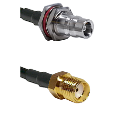 QN Female Bulkhead on LMR200 UltraFlex to SMA Reverse Thread Female Cable Assembly