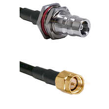 QN Female Bulkhead on LMR200 UltraFlex to SMA Reverse Thread Male Cable Assembly