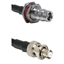 QN Female Bulkhead on LMR200 UltraFlex to SHV Plug Cable Assembly