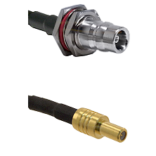 QN Female Bulkhead on LMR200 UltraFlex to SLB Male Cable Assembly