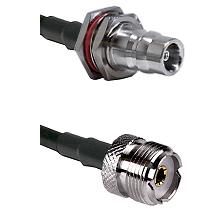 QN Female Bulkhead on LMR200 UltraFlex to UHF Female Cable Assembly