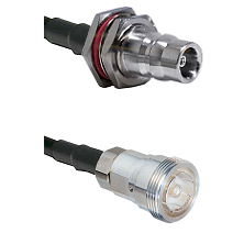 QN Female Bulkhead Connector On LMR-240UF UltraFlex To 7/16 Din Female Connector Coaxial Cable Assem