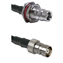 QN Female Bulkhead Connector On LMR-240UF UltraFlex To C Female Connector Cable Assembly